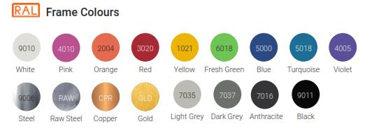 Axiom Table & Bench Frame Colours