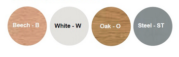 Slope Round Table Top Colour Options