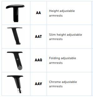 Yarrow Mesh Chair - Height Adjustable Arms