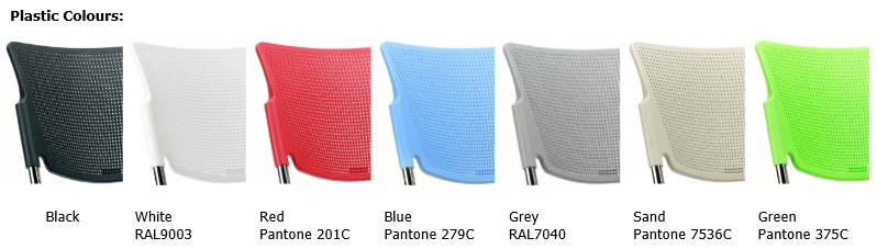 Mia Beam Seating Colours