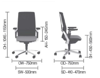 i-Workchair Dimensions