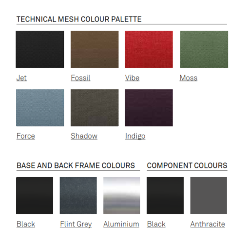 i-Workchair Colour Options