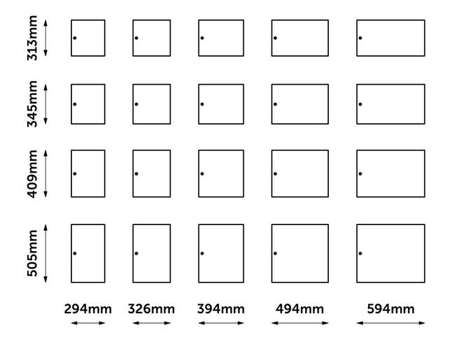 HotLocker Door Sizes
