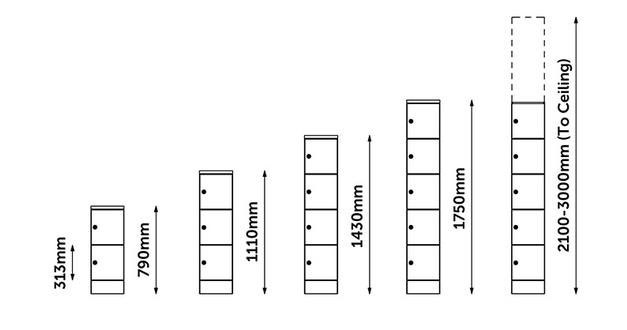 HotLocker Module Heights