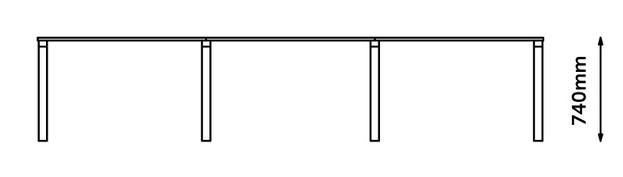Zee Bench Desk Dimensions