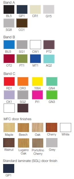 Z Lockers Colour Finishes